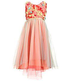 bfcf6b01a2 Rare Editions Little Girls 2T-6X Soutache Floral-Appliqué Easter Dress