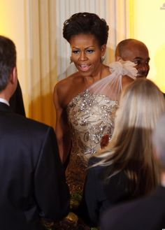 Michelle Obama    http://www.huffingtonpost.com/2012/02/27/michelle-obama-governors-association-dinner-2012_n_1304511.html
