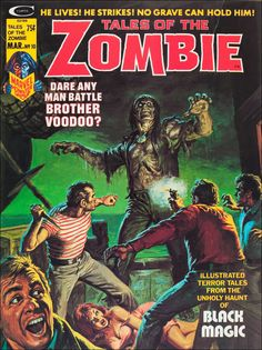 Tales of the Zombie #10, March 1975. Cover art by Earl Norem.