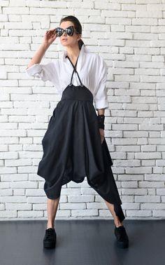 NEW Asymmetric Linen Skirt/Long Short Extravagant by Metamorphoza