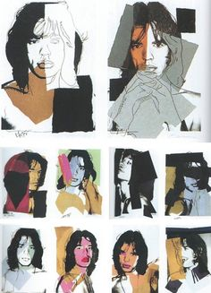 Mick Jagger's portfolio in ten silkscreens by Andy Warhol, 1975.