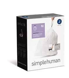 Simplehuman Custom Fit Trash Can Liner J 38 40 Liter 10 105 Gallon 50count >>> Click on the image for additional details.
