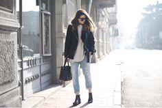 LAYBACK - come abbinare montone nero winter outfit