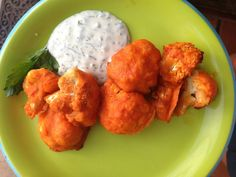 Crispy Gluten Free Cauliflower Buffalo Wings with Homemade Vegan Ranch - Against The Grain