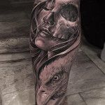 Portrait, Skull & Eagle | Best tattoo ideas & designs