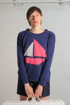 "Sweatshirt ""Sailing"" // sweatshirt by margrijt via DaWanda.com"