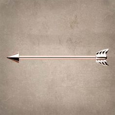 "14kt rose gold arrow industrial barbell piercing for your upper ear. The 14kt gold plated surgical steel industrial barbell is 14 gauge and 1-3/8"" inches long in the shape of an arrow. #industrialpiercing"