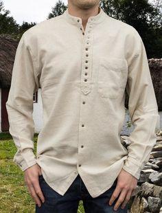 Shirt Collar Styles, Banded Collar Shirts, Designer Suits For Men, Designer Clothes For Men, Gents Kurta, Grandad Shirts, Kurta Designs, Boys Kurta, Men In Kilts