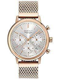 86e664aa087d Gant Reloj Multiesfera para Mujer de Cuarzo con Correa en Acero Inoxidable  GT032002