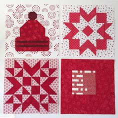 - first four blocks made by Canada Maple Leaf, Maple Leaves, Block Of The Month, Quilts, Instagram Posts, Pattern, Projects, Ideas, Log Projects