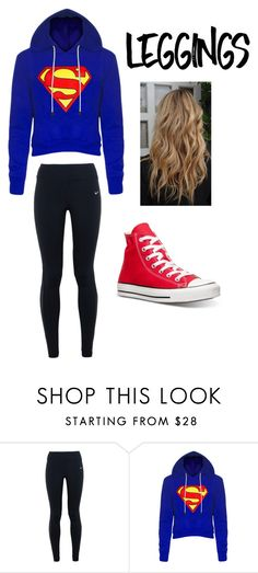 """leggings"" by mallory-d ❤ liked on Polyvore featuring NIKE and Converse"