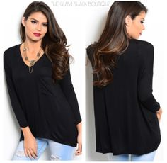 This is a must have for your wardrobe!! V-neck hi-lo style tunic top. Pocket on front.     Very soft & comfy. Fits loose/flowy.          Only 1⃣ Small & 1⃣ Large left!    Small fits 4/6.     Large fits 12/14.     FREE US Shipping!🍂 | Shop this product here: http://spreesy.com/theglamshackboutique/517 | Shop all of our products at http://spreesy.com/theglamshackboutique    | Pinterest selling powered by Spreesy.com