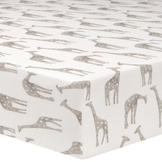 Shop gender neutral crib sheets with Liz and Roo. This giraffe (taupe) crib sheet is perfect for your nursery. Ships quickly. Made in the USA. Baby Bedding, Baby Crib Sheets, Baby Cribs, Bedding Sets, Nursery Bedding, Safari Nursery, Nursery Themes, Nursery Ideas, Nursery Decor