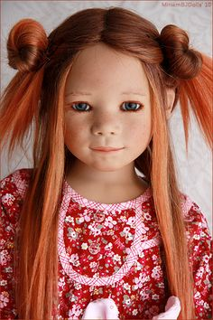 Marthy in red by MiriamBJDolls, via Flickr