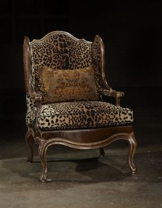 Cheetah print Chair. Would look great in my tiger/cheetah guest room.