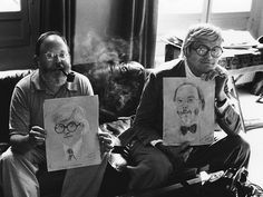 Robert Doisneau // Portrait of art historian and critic Henry Geldzahler ( left) and painter David Hockney, 1975. ( http://www.gettyimages.co.uk/detail/news-photo/portrait-of-art-historian-and-critic-henry-geldzahler-and-news-photo/169619797