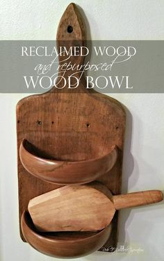 Farmhouse Style repurposed wood bowl and reclaimed wood Cutting Board