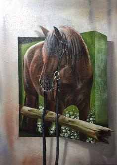 "Saatchi Art Artist Eka Peradze; Painting, ""3D.HORSE"" #art"