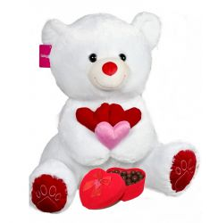 Ayıcık 65 Cm Çikolata Dolu Kadife Kalp Kutulu Teddy Bear, Toys, Animals, Activity Toys, Animales, Animaux, Clearance Toys, Teddy Bears, Animal