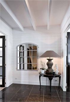 beams + shiplap + french doors