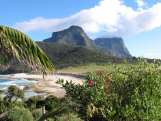 The view from the walk up transit hill. Lord Howe Island.