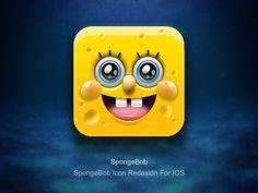 海绵宝宝/SpongeBob Icon Redesidn For IOS - ICONFANS|图标粉丝网|专业图标界面设计论坛,软件界面设计,图标制作下载,人机交互设计