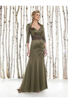 Sheath-Sweetheart-Long-Olive-Green-Chiffon-Mother-Evening-Dress-With-Bolero-Jacket.jpg (700×1050)