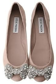 blush wedding shoes bridal flats