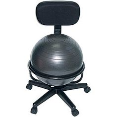 for work! @Overstock - Cando Ball Office Chair - Office chair combines the benefits of ball therapy with the convenience of a chair baseCando ball chair is made of durable metal, with no armsErgonomic chair is held securely in place by the base design  http://www.overstock.com/Health-Beauty/Cando-Ball-Office-Chair/4455349/product.html?CID=214117 $121.99