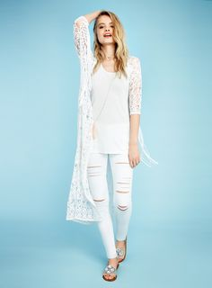 Miss Selfridge: Riviera Girl White Jeans Outfit, Face Off, S Girls, Fashion Face, Trousers, Pants, Summer Wardrobe, Miss Selfridge, Bohemian Style