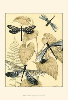Spa Dragonflies in Nature II Art Print by Megan Meagher at Art.com