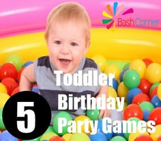 5 Toddler Birthday Party Games