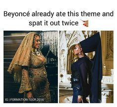 I guess she figured ain't no need to do it again 🤷🏽♀️ Beyonce Memes, Beyonce Album, Beyonce Quotes, Queen B Beyonce, Beyonce And Jay Z, Beyonce World, Beyonce Knowles, Girl Problems, African Fashion
