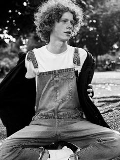 Boys To Watch: SS16. Ben Rees at Boom Models photographed by Maud Maillard. Styling by Francesca Colli. Ben wears Coat by North Sail, Dungarees by Levi's and T-Shirt by Pierre-Louis Mascia. See the full series here: http://www.boysbygirls.co.uk/index.php/news/boys-to-watch-milan-ss16