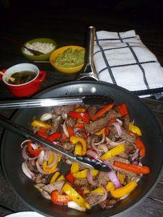 Fajitas de carne asada a la parrilla #recetadeaprovechamiento