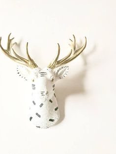 Small Funfetti Deer Head Faux Taxidermy Stag Wall Mount