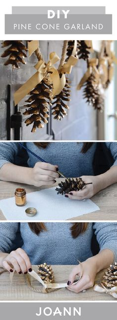 Get your home ready for the fall by creating this DIY Pine Cone Garland for your living room. Made with a few craft supplies from JOANN, this handmade decoration can even transition into multiple seasons!