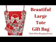 Very Large Tote Gift Bag - Schuh Basteln Paper Purse, Paper Gift Bags, Paper Gifts, Large Gift Bags, Large Tote, Hanging Purses, Purse Tutorial, Sewing Box, Scrapbook Albums