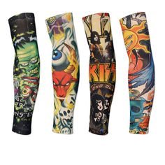 18 Colors 2pcs Cycling Sports Tattoo UV Block Cool Arm Sleeves Armwarmer Cover Sun Protection Skull Bike Bicycle Arm Warmer //Price: $6.95 & FREE Shipping //     #hashtag3 Arm Sleeves, Sun Protection, Leg Warmers, Cycling, Arms, Bicycle, Skull, Socks, Cool Stuff