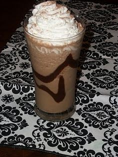 """""""Nutella Coffee Drink"""" 1 cup milk, 1/2 tsp vanilla extract, 1 1/2 tsp instant coffee  4 tsps Nutella, 1 tbls sugar, 1 cup ice  garnish: whipped cream, chocolate syrup, cocoa powder. Add all ingredients in the blender, except the garnishes.  Blend until smooth.    Add all ingredients in the blender, except the garnishes.  Blend until smooth.  Finish by swirling a little choco"""