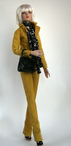 Linen Suit for 16 inch fashion doll by SweetSixteenShop on Etsy,