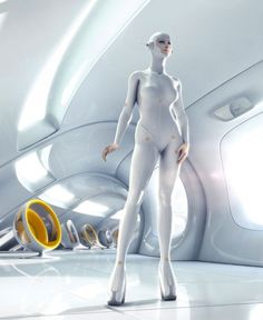 Futuristic fantastical sci fit outfit