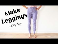 Sew leggings - make your own leggings pattern with this DIY tutorial! Custom leggings designed to fit you perfectly. Leggings Sale, Cheap Leggings, Custom Leggings, Tops For Leggings, Gym Leggings, Sewing Patterns Free, Clothing Patterns, Sewing Tutorials, Sewing Projects