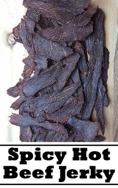 Spicy Hot Beef Jerky This beef jerky is spicy with a nice hint of pepper. Beef Jerky Marinade, Smoked Beef Jerky, Beef Jerkey, Best Beef Jerky, Venison Jerky, Smoked Meat Recipes, Spicy Recipes, Keto Recipes, Barbecue