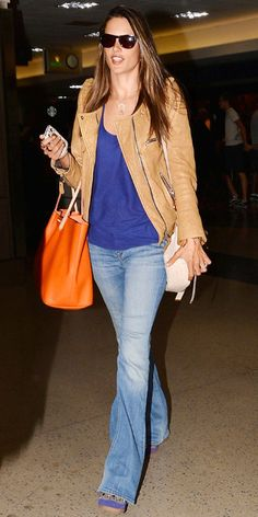 Jet-Set in Style: 39 Celebrity-Inspired Outfits to Wear on a Plane - Alessandra Ambrosio from #InStyle