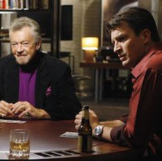 """Castle   Stephen J. Cannell, Michael Connelly, Dennis Lehane, & James Patterson In season three, episode twenty-one (""""The Dead Pool"""") Castle is mentoring rookie author Alex Conrad, but gets jealous when Alex forms a bond with Beckett. In retaliation, Castle decides to give Alex a hard time by inviting him to a poker game with..."""