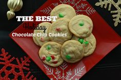 Looking to add some holiday to your chocolate chip cookies? This is THE BEST recipe, giving you soft and chewy cookies with some help from Tenderflake!