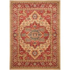 Mahal Red/Natural 10 ft. x 14 ft. Area Rug MAH698A-10 at The Home Depot - Mobile