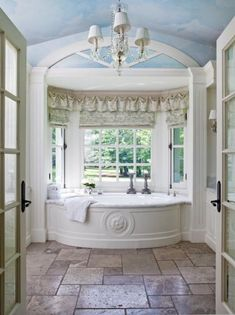 turquoise walls in the salle de bain Dream Bathrooms, Beautiful Bathrooms, Turquoise Walls, My Dream Home, Beautiful Homes, Beautiful Beach, New Homes, House Design, House Styles