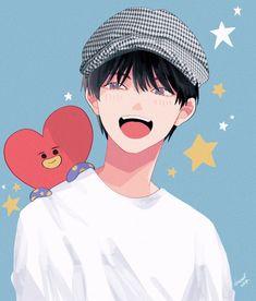 Cute Anime Boy, Anime Guys, Ghibli, Taehyung Fanart, Kpop Drawings, Sad Art, Arte Disney, Bts Chibi, Cute Cartoon Wallpapers